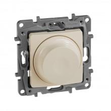 Светорегулятор поворотный без нейтрали 300Вт Etika слоновая кость, артикул 672319