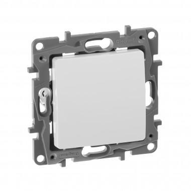 Выключатель одноклавишный Etika 10 A 250 В~ белый, артикул 672201, Клавишные выключатели Legrand
