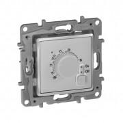 Термостат с внешним датчиком для тёплых полов Etika алюминий, артикул 672430