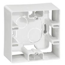 Коробка накладного монтажа 1 пост Etika белый, артикул 672510