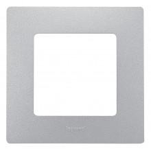 Рамка 1 пост Etika алюминий, артикул 672551