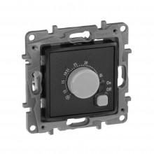 Термостат с внешним датчиком для тёплых полов Etika антрацит, артикул 672630