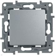 Переключатель одноклавишный автоматические клеммы Etika 10 AX 250 В~ алюминий, артикул 672405
