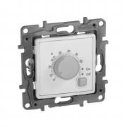 Термостат с внешним датчиком для тёплых полов Etika белый, артикул 672230