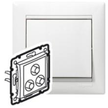 Тройная розетка RCA Valena белый, артикул 770084