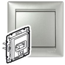 Розетка HD 15 + гнездо диам. 3,5 мм Valena алюминий, артикул 770282