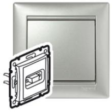Розетка HD 15 для видеоустройств Valena алюминий, артикул 770283