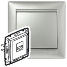 Розетка HDMI для аудио/видеоустройств Valena алюминий, артикул 770285