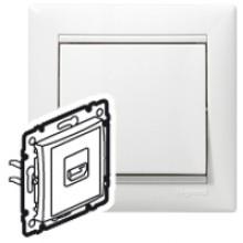 Розетка HDMI для аудио/видеоустройств Valena белый, артикул 770085