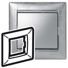 Рамка Valena 1 пост алюминий модерн, артикул 770341