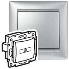 Выключатель для гостиничных номеров стандарт Valena алюминий, артикул 770234
