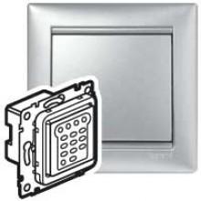 Кнопочный светорегулятор Valena 40600 Вт/40600 ВА алюминий, артикул 770274