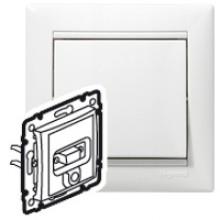 Розетка HD 15 + гнездо диам. 3,5 мм Valena белый, артикул 770082