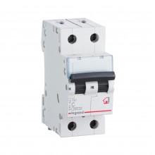 Автоматический выключатель TX³ 6000, 6 кА, тип характеристики C, 2П, 230/400 В~, 16 А, 2 модуля, артикул 404042  Legrand