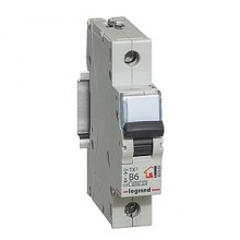 Автоматический выключатель TX³ 6000, 6 кА, тип характеристики C, 1П, 230/400 В~, 6 А, 1 модуль, артикул 404025  Legrand
