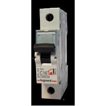 Автоматический выключатель TX³ 6000, 6 кА, тип характеристики C, 1П, 230/400 В~, 50 А, 1 модуль, артикул 404033  Legrand