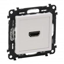 Valena LIFE.Розетка для аудио/видео устройств HDMI Тип А.С лицевой панелью.Белая, артикул 753171