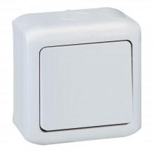 Выключатель без фиксации (кнопка) 6 A 250 В~ Quteo IP 44 Серый, артикул 782335