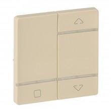 Valena LIFE MyHome Play Zigbee. Лицевая панель для радиоприемного выключателя,для приводов жалюзи/рольставень.Слоновая кость, артикул 754728
