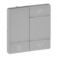 Valena LIFE MyHome Play Zigbee. Лицевая панель для радиоприемного выключателя,для приводов жалюзи/рольставень.Алюминий, артикул 754729