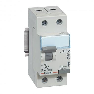 Выключатель дифференциального тока TX³, 2П, 40 А, тип AC, 300 мА, 2 модуля, артикул 403039  Legrand
