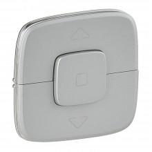 Valena ALLURE.Лицевая панель для выключателя жалюзи и рольставней.Алюминий, артикул 755147