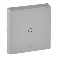 Valena LIFE.Лицевая панель для выключателя с выдержкой времени 2канального.Алюминий, артикул 755212