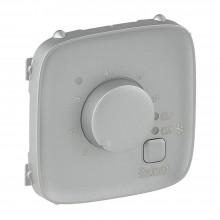 Valena ALLURE.Лицевая панель для термостата для теплых полов.Алюминий, артикул 755327