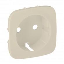 Valena ALLURE.Лицевая панель для силовой розетки 2К+З с зажимами 6кв.мм.Слоновая кость, артикул 755256