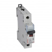 Автоматический выключатель DX³-E 6000, 6 кА, тип характеристики C, 1П, 230/400 В~, 40 А, 1 модуль, артикул 407267  Legrand