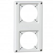 Лицевая панель - P17 Tempra Pro - 220x125 - 2 розетки 16 A, артикул 057713