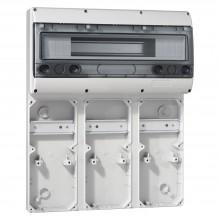 Основание - P17 Tempra Pro - для лицевых панелей 280x125 - рейка 18 модулей (9 розеток 16 A), артикул 057704