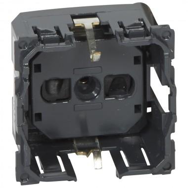 Розетка 2К+З немецкий стандарт винтовые зажимы Программа Celiane, артикул 067161, Розетки электрические Legrand