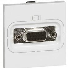 Видео розетка Программа Mosaic гнездо HD15 2 модуля белая, артикул 078757