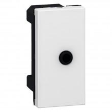 Аудио розетка Программа Mosaic гнездо 3,5 мм разъём 1 модуль белая, артикул 078764