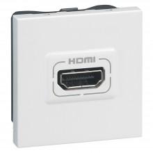 Аудио и видеорозетка Программа Mosaic HDMI 2 модуля белый, артикул 078768