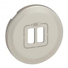 Лицевая панель Программа Celiane зарядное устройство 2 х USB 1500 мА, Кат. № 0 674 62 титан, артикул 068556