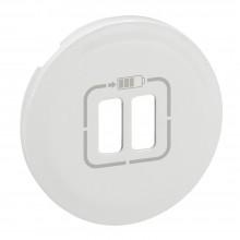 Лицевая панель Программа Celiane зарядное устройство 2 х USB 1500 мА, Кат. № 0 674 62 белый, артикул 068256