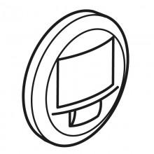 Лицевая панель Программа Celiane датчик движения двухпроводный 250 Вт без нейтрали с функцией ручного управления, Кат. № 0 672 26 белый, артикул 068026
