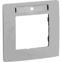 Рамка с держателем для маркировки 1 пост Etika белый, артикул 672506