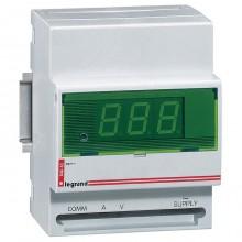 Цифровой амперметр/вольтметр - 0-500 В - монтаж на рейке DIN