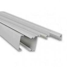 Мини-канал Metra - 40x16 - 2 метра - с крышкой - с перегородкой - белый