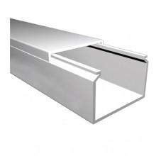 Мини-канал Metra - 60x40 - 2 метра - с крышкой - белый