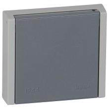Plexo55 Розетка 3К+Н+З 20А 400В~ IP44 , серая