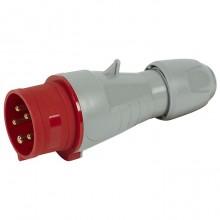 Вилка прямая - P17 Tempra Pro - IP 44 - 380/415 В~ - 16 A - 3К+Н+З
