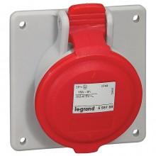 Встраиваемая наклонная розетка - P17 Tempra Pro - IP 44 - 380/415 В~ - 16 A - 3К+З