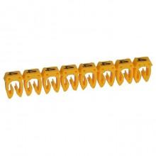 Маркер CAB 3 - для кабеля 0,5-1,5 мм² - цифра 4 - желтый