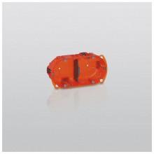Batibox Коробка монтажная повышенной прочности 2-ная, диаметр 67 мм, глубина 40мм, оранжевая
