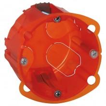 Batibox Коробка монтажная повышенной прочности 1-ная, диаметр 67 мм, глубина 50 мм, оранжевая