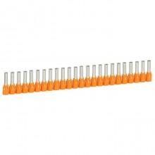 Наконечник в лентах Starfix - для кабелей сечением 4 мм² - оранжевый